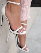 ZARA białe sandały szpilki...