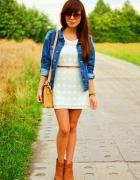 sukienka tunika ażurkowa sweterkowa jesień boho XS