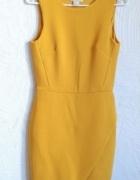 Sukienka ścięta przekładana zakładka asymetryczna