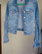Jasna jeansowa kurteczka katana H&M