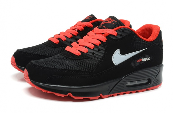 Obuwie Nike Air Max 90 z pomarańczowymi wstawkami
