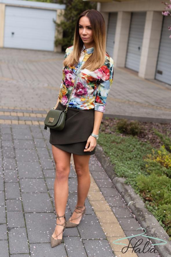 Codzienne Koszula w kwiaty Halia & Olivka Blog