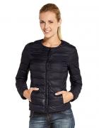 pikowana krótka kurtka czarna XL