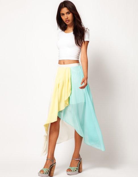 Ubrania spódniczka asymetryczna