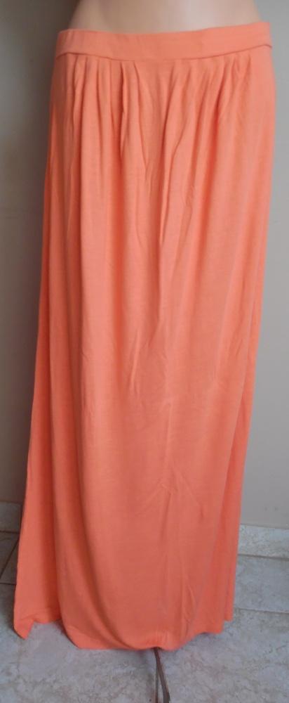 Spódnice długa spódnica brzoskwiniowa