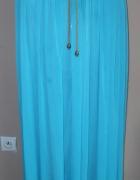 spódnica długa turkusowa