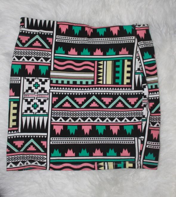 Spódnice Spódniczka w azteckie wzory Bershka