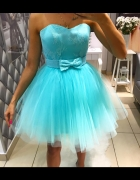 sukienka miętowa tiulowa princesska