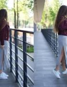 adidasy i sukienka maxi