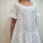 piękna biała haftowana sukienka lato 2016