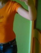 pomarańczowy neonowy Tshirt...