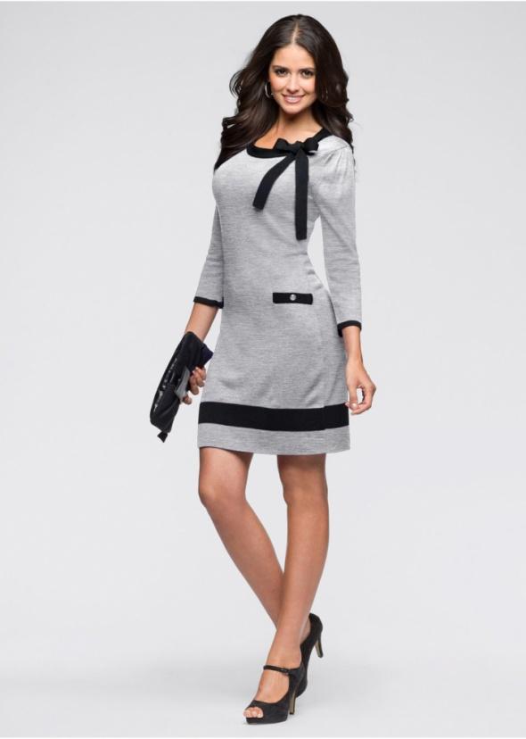 2e294556dc BODYFLIRT bonprix SUKIENKA dzianinowa SZARA w Suknie i sukienki ...