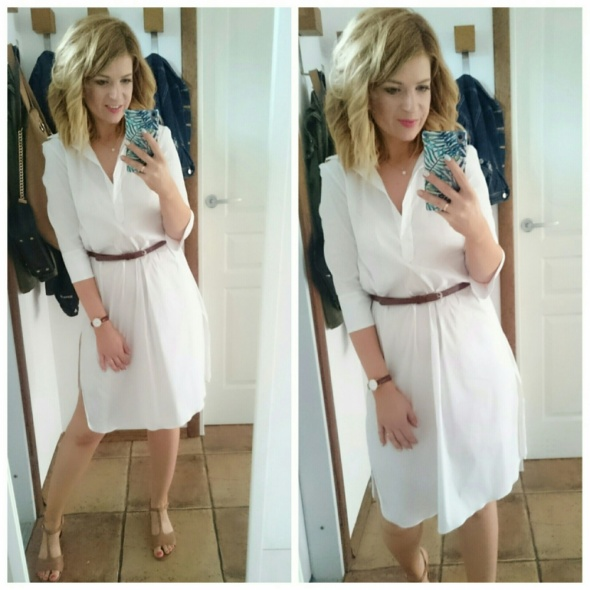 Eleganckie koszulowa sukienka