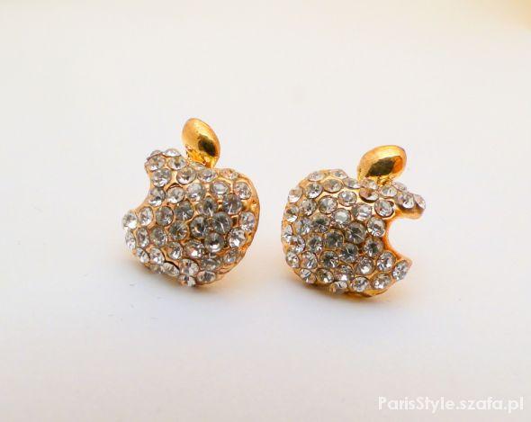 Kolczyki jabłuszka z kryształkami