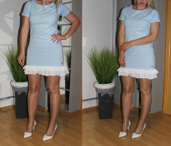 Codzienne Błękitna sukienka