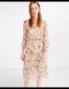 zara sukienka w kwiatyfloral...