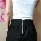 Ciemno jeansowa spódnica zamek zip
