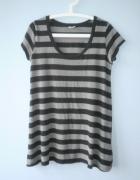 Gina Tricot koszulka paski długa long grunge...