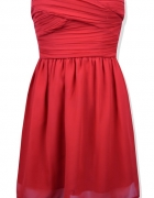 Czerwona elegancka sukienka Chiffon Bandeau Dress