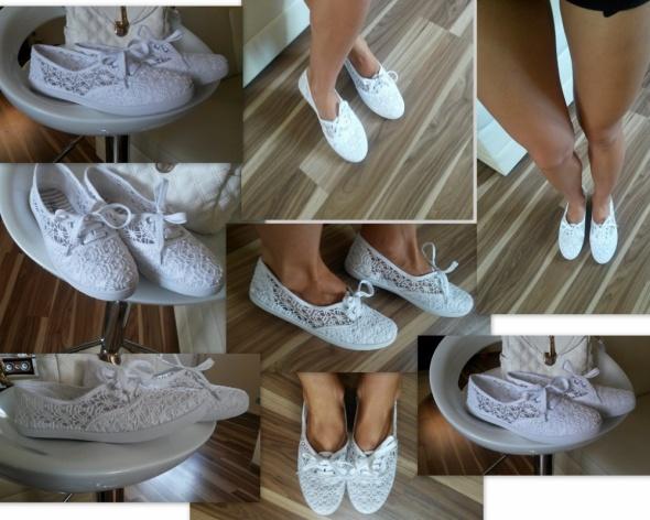 6d0af972d1b2 NOWE Białe buty tenisówki koronka trampki mix rozm w Trampki - Szafa.pl