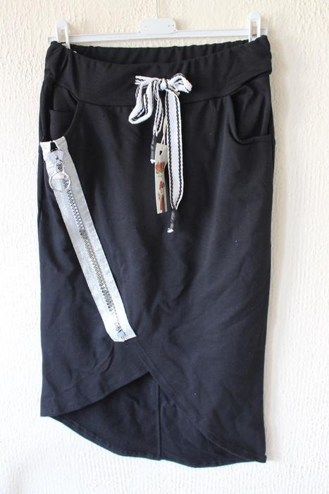 Spódnice czarna dresowa spódniczka m