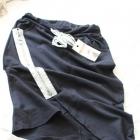 czarna dresowa spódniczka m