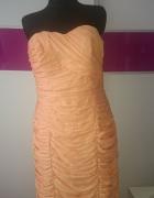sukienka bandazowa jasny pomarancz...