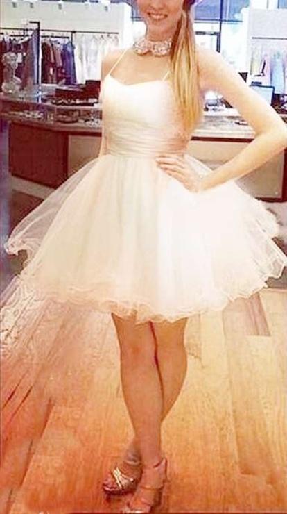 433a88ce74 Sukienka nude ecru tiulowa rozkloszowana bajkowa w Suknie i sukienki ...