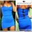 sukienka niebieska Atmosphere tuba zip bandażowa