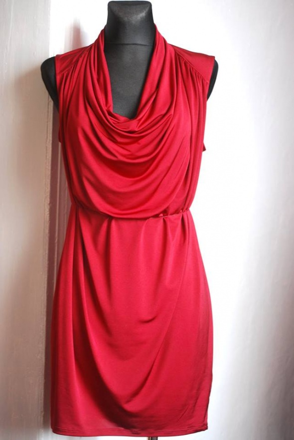 7e7a3f72b9 bordowa sukienka HM r S w Suknie i sukienki - Szafa.pl