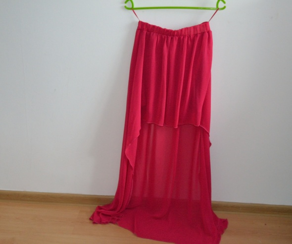 Spódnice asymetryczna spódnica neonowa fuksja