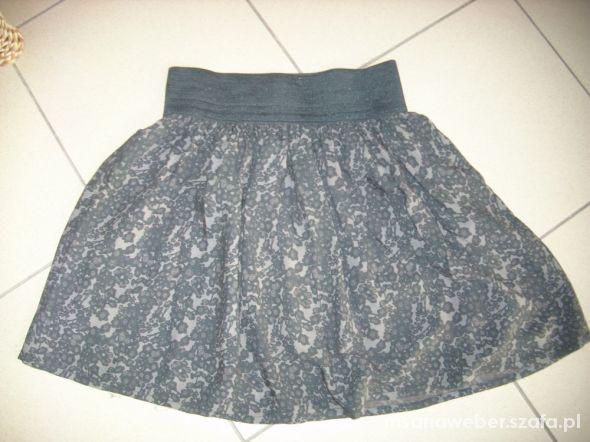 Spódnice rozkloszowana spódnica guma szeroka S