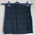 Koronkowa czarna spódniczka H&M