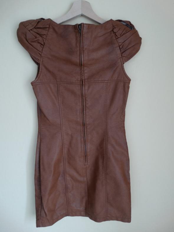Suknie i sukienki H&M sukienka z ekoskóry RS