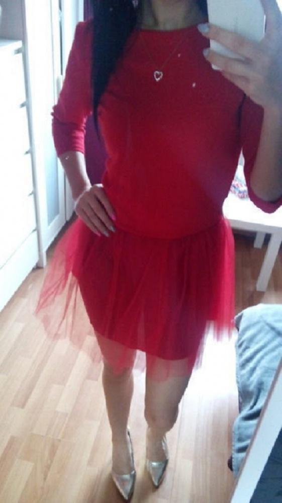 Suknie i sukienki Sukienka czerwona z tiulem