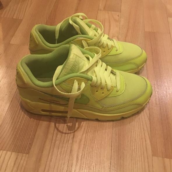 Nike Air Max 90 Neon Neonowe Odblaskowe Zielone w Sportowe