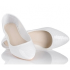 Półbuty baleriny białe lub beżowe