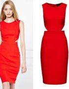 Czerwona sukienka mohito 2015 wycięcia...