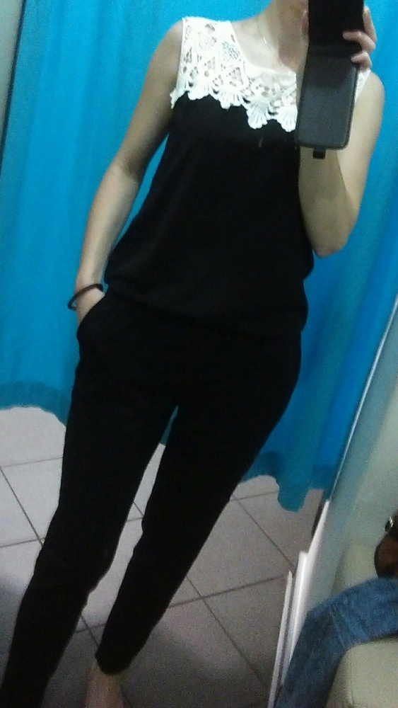 Kombinezony czarny elegancki kombinezon