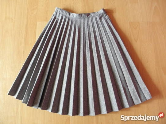 Plisowana szara spodniczka dowolny rozmiar