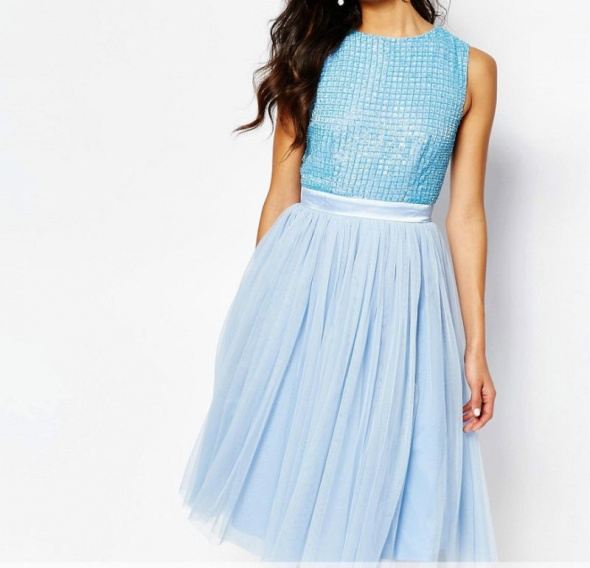 b0c8baf35d Sukienka Maya dla Asos błękitna wesele 40 42 w Suknie i sukienki ...