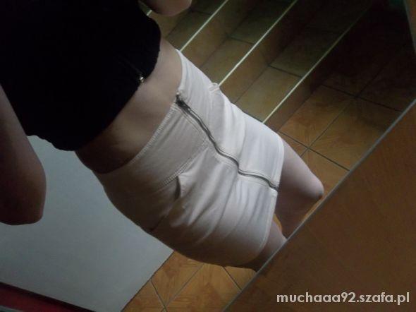 Spódnice spódnica HM zip pudrowy róż