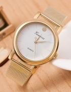 Zegarek GENEVA Złoty Biały Czarny Bransoleta złota