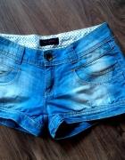 jeansowe spodenki szorty 36 38