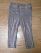 spodnie legginsy sztruksowe 74