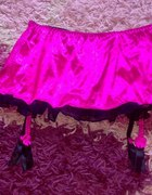 spódniczka ze stringami i pasem do pończoch M L