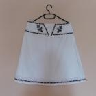 Biała letnia spódnica z czarnym haftem 38 40