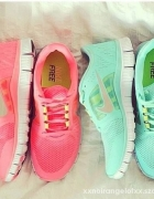 Nike free run 3 koralowe lub miętowe...