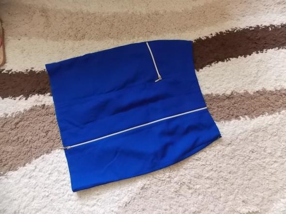 Spódnice Śliczna szafirowa ołówkowa spódnica z zipami