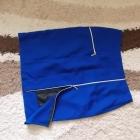 Śliczna szafirowa ołówkowa spódnica z zipami